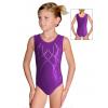 Gymnastický dres závodní D37rsl f36 vínová metalíza