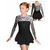 Krasobruslařské šaty - trikot K738 v465 F35 černá