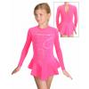 Krasobruslařské šaty - trikot K739 F27 reflexní růžová termo