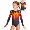 Gymnastický dres závodní D37d t121 černooranžová