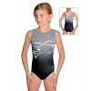 Gymnastický dres závodní D37r t113p černošedá