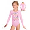 Gymnastický dres B37dg f58b světle růžová elastická bavlna