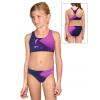 Dívčí sportovní plavky dvoudílné PD661 t110 modrofialová
