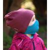 Bavlněná rouška DVOUVRSTVÁ S KAPSOU tyrkysová - pro děti (cca 3-12 let) - PRO OPAKOVANÉ POUŽITÍ