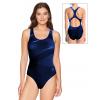 Dámské sportovní plavky jednodílné P623  t701 tmavě modré