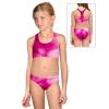Dívčí sportovní plavky dvoudílné PD658 t100 růžová
