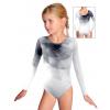Gymnastický dres závodní D37d t100 s šedou