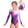 Gymnastický dres  D37d t140 fialová
