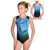 Gymnastický dres D37r t133 černotyrkysová