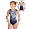Gymnastický dres D37r t133 černošedá