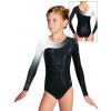 Gymnastický dres závodní D37d-56 f65 černobílá
