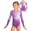 Gymnastický dres  D37d t207 fialová