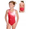Dívčí sportovní plavky jednodílné PD623 t207 červená