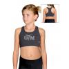 Sportovní podprsenka - top B346 f77 tmavě šedá elastická bavlna