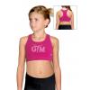 Sportovní podprsenka - top B346 f77 růžová elastická bavlna