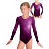 Gymnastický dres  D37d t207 tmavě fialová