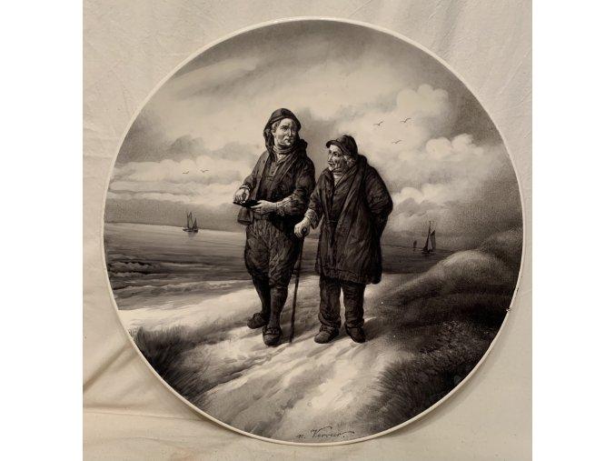 Eichanon Leonardus VERVEER: malba na talíři