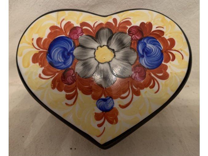 keramická dóza ve tvaru srdce Graniton, Rydl a Thon