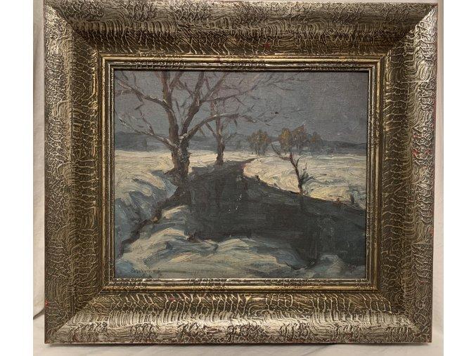 Dobri Dobrev: Řeka v zimě, 1931