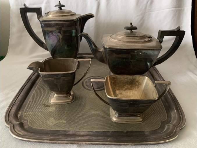 EPNS Tea Service - čajový servis art deco