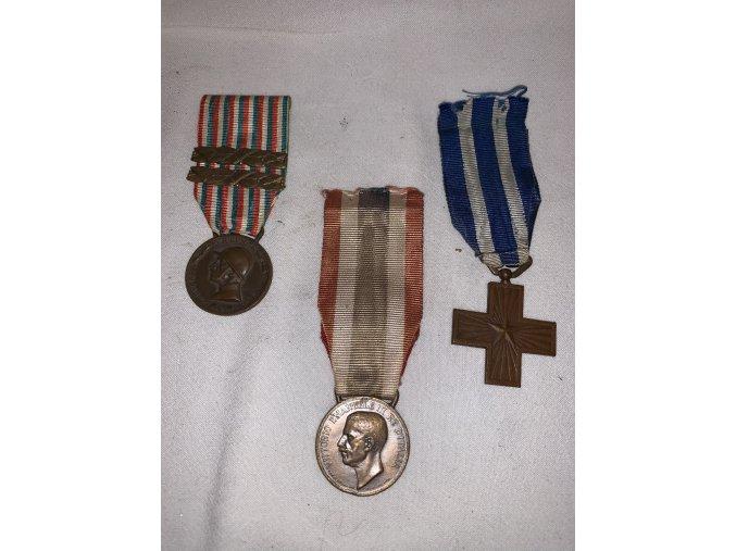 medaile z italských legií 1-3
