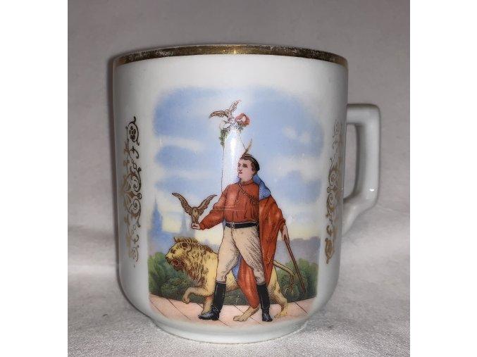 porcelánový hrnek s motivem Sokol 1-2