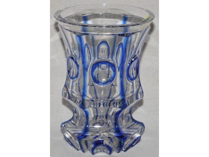 skleněný lázeňský pohár s vedutami měst