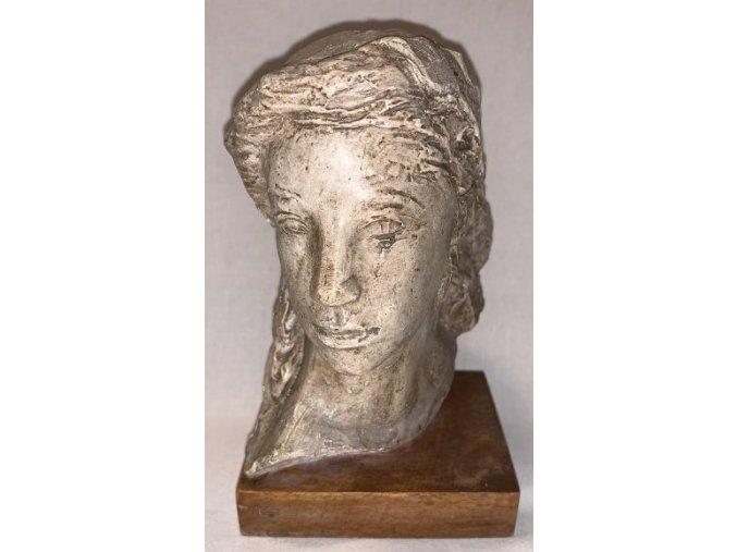Emanuel Kodet: secesní busta ženy