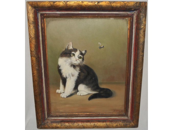 Ruda Hudeček: Kočička s včelkou