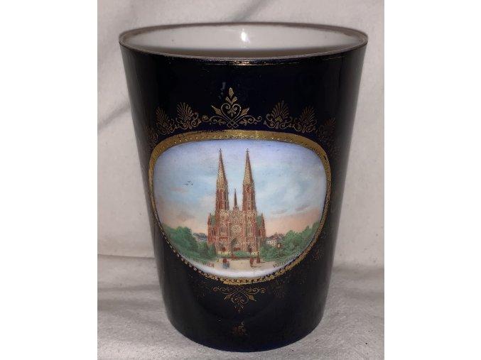 porcelánový pohár Vídeň
