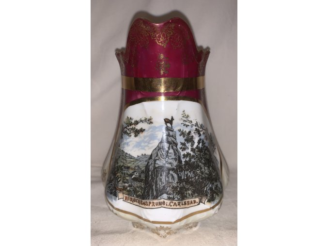 porcelán s motivem Karlovy Vary, Carlsbad 1-2