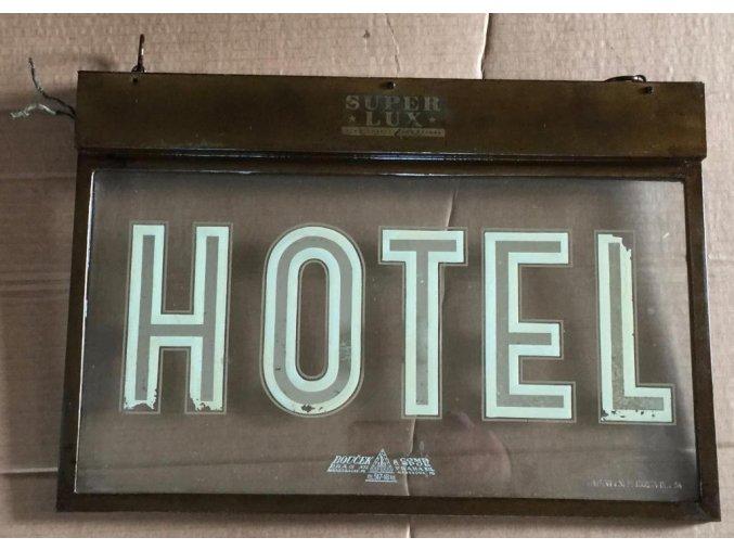 světelná reklama Super lux - HOTEL
