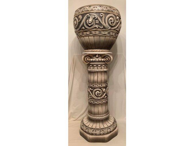 keramický květináč na noze