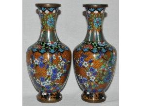 párové vázy cloisone