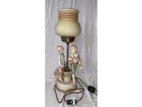 figurální lampa Royal Dux
