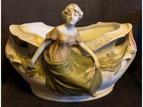 porcelánová žardiniéra Royal Dux Eichler