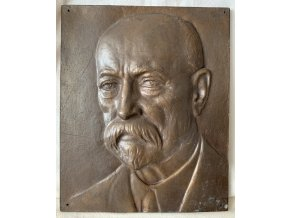 Julius Pelikán: Tomáš Garique Masaryk - bronzový reliéf