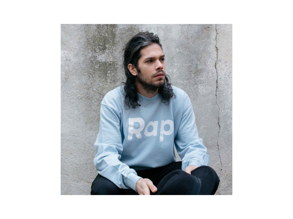 Sky Blue / White crewneck