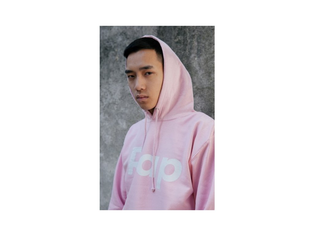 Baby Pink / White hoodie