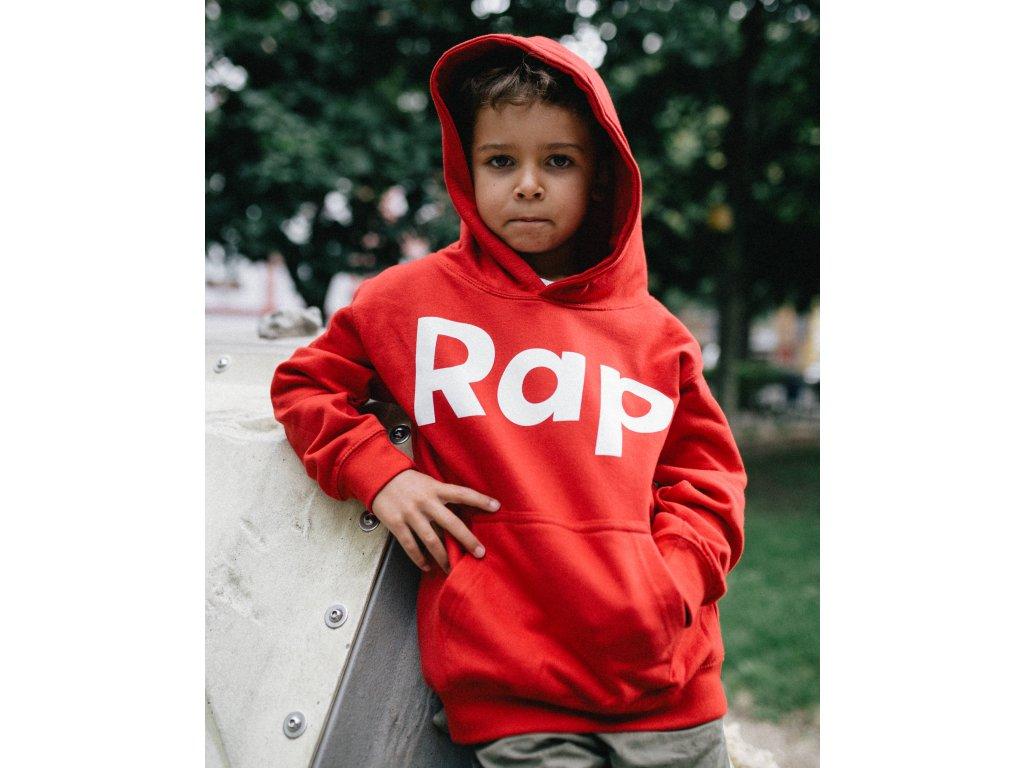 Red / White kids hoodie