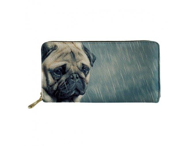 Peněženka mopsík v dešti 1