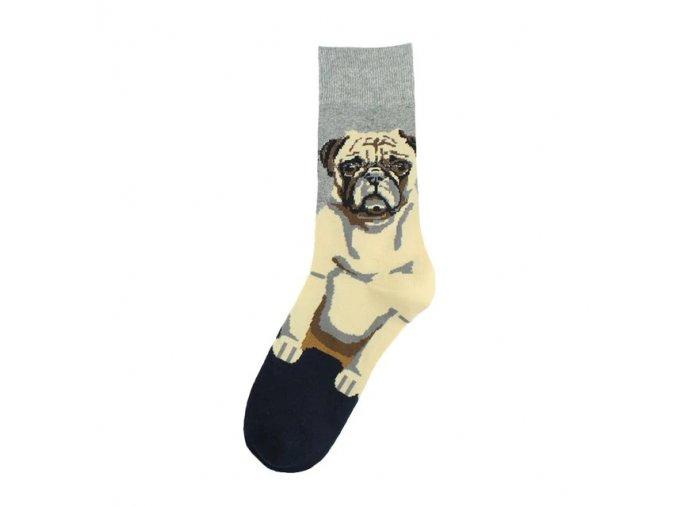 Ponožky s mopsím frajerem