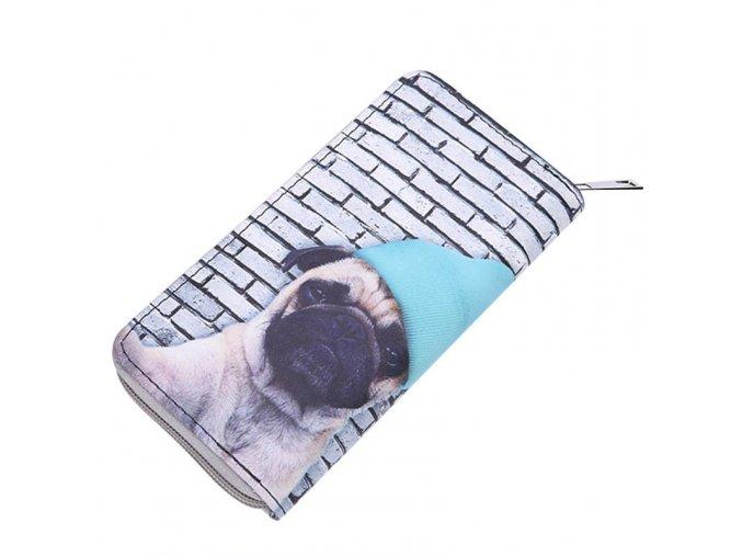 Peněženka mopsík s čepičkou 1