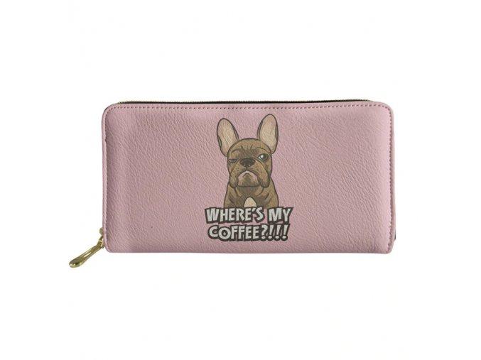 Peněženka buldoček Coffee 1