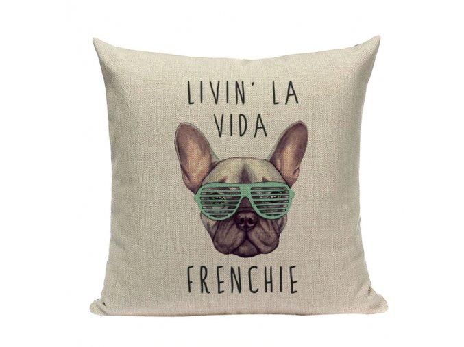 Potah na polštářek la vida frenchie