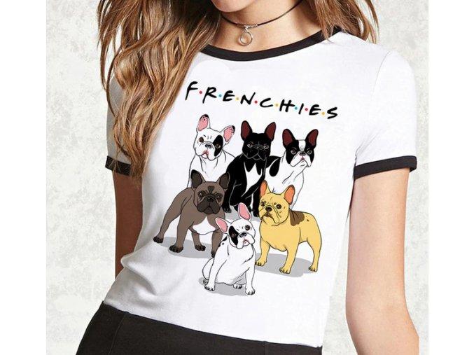 Triko buldoček frenchies! černobílé