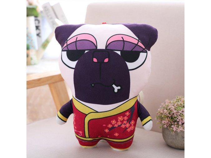 Polštářek mopsík mazel v kimonu