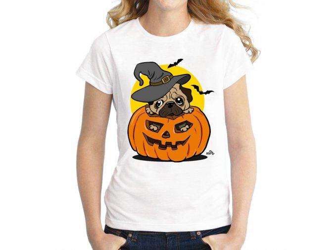 Triko mopsí halloween