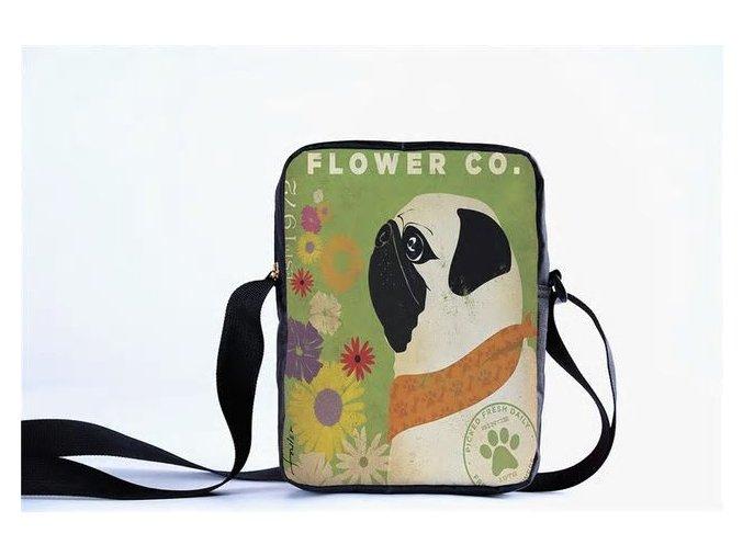 Messenger Mopsík a květiny