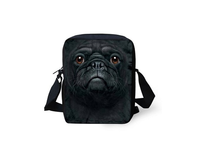 "Messenger mopsík ""ALL BLACK"""